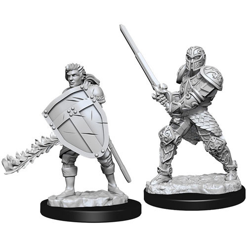 Human Male Fighter (2) - D&D Miniatures-RedQueen.mx