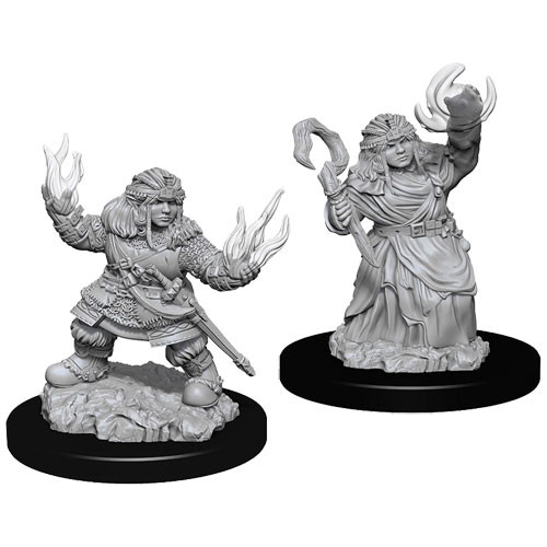 Dwarf Female Summoner (2) - Pathfinder Battles Miniatures-RedQueen.mx