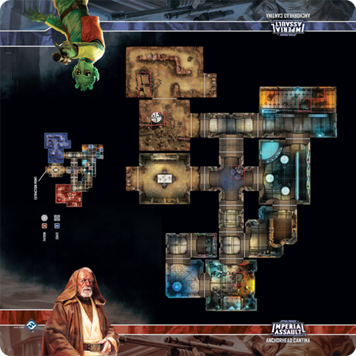 Anchorhead Cantina - Imperial Assault Skirmish Map - SW Imperial Assault