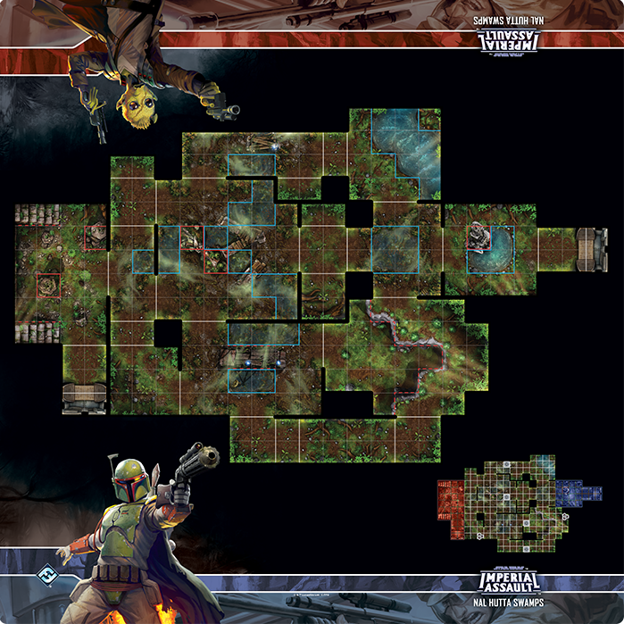 Nal Hutta Swamps - Imperial Assault Skirmish Map - SW Imperial Assault