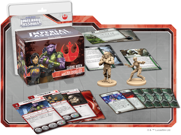 Sabine Wren and Zeb Orrelios - Imperial Assault Pack - SW Imperial Assault