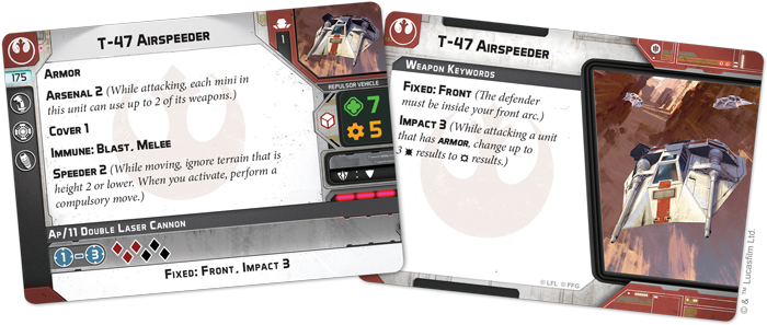 T-47 Airspeeder Unit - Legion Expansion - SW Legion