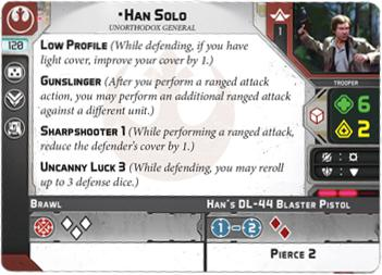 Han Solo Commander - Legion Expansion - SW Legion