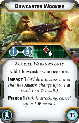 Wookiee Warriors Unit - Legion Expansion-RedQueen.mx