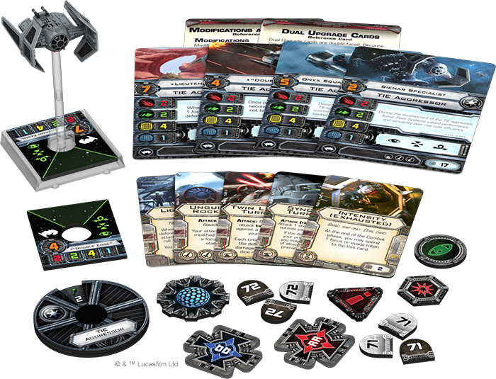 TIE Aggressor - X-Wing Expansion - SW X-Wing