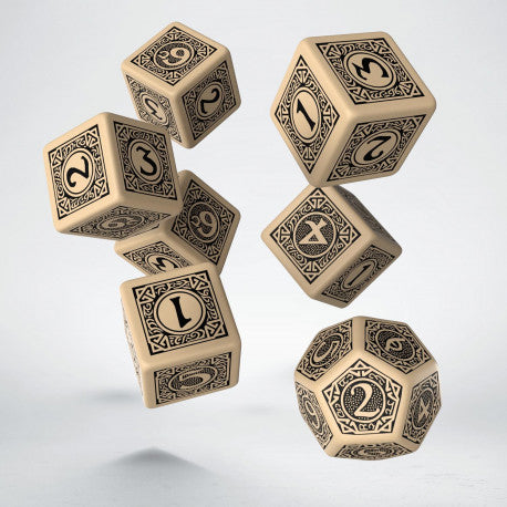 The One Ring RPG 6D6+D12 Deluxe Dice set (7)-RedQueen.mx