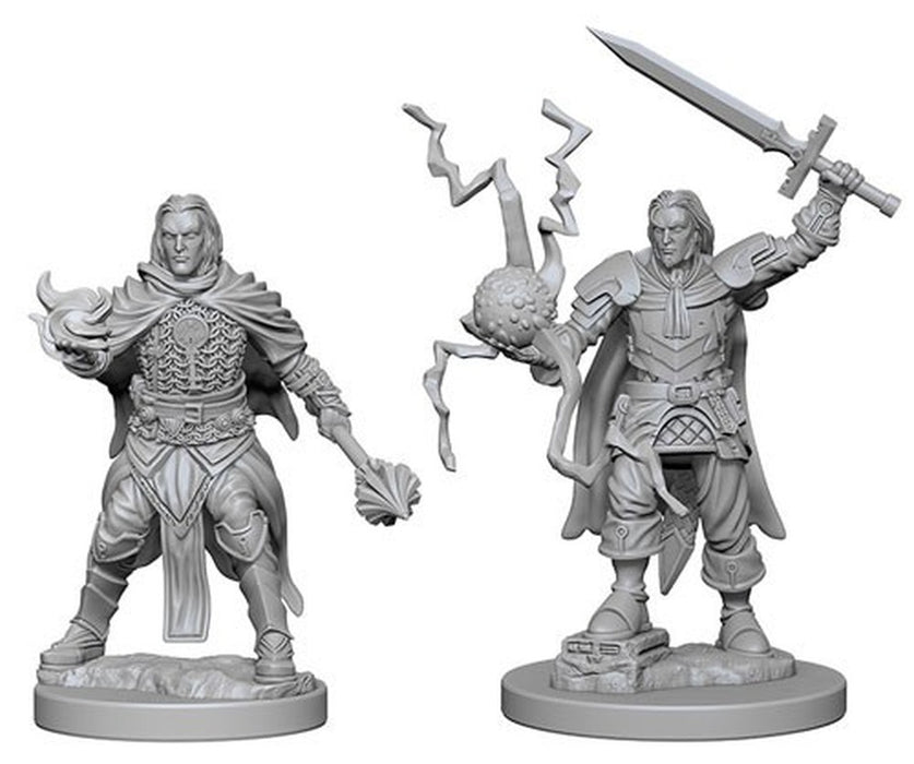 Pathfinder Battles - Deep Cuts Unpainted Miniatures: Human Male Cleric - WizKids/NECA