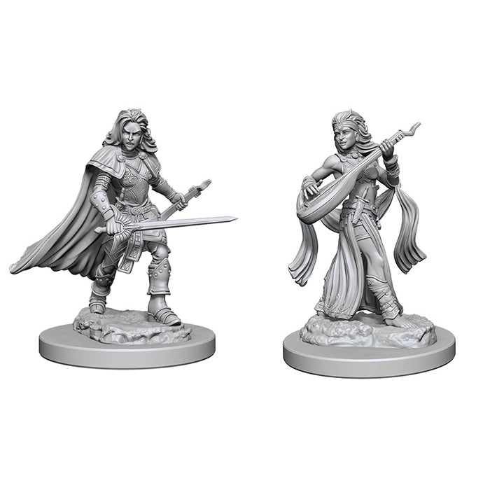 Pathfinder Battles - Deep Cuts Unpainted Miniatures: Human Female Bard - WizKids/NECA