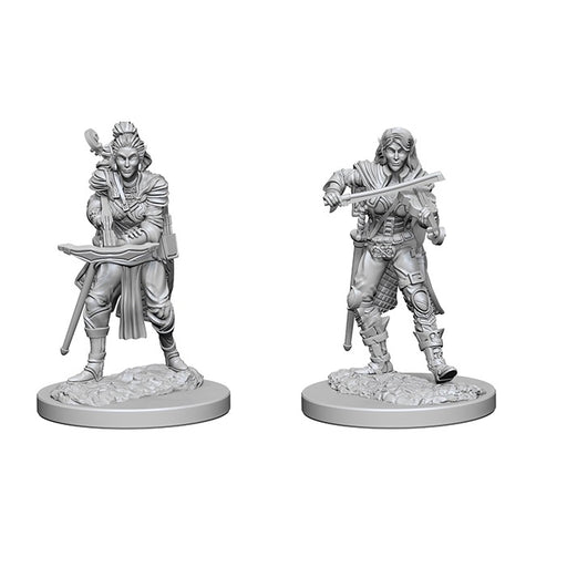 Pathfinder Battles - Deep Cuts Unpainted Miniatures: Elf Female Bard - WizKids/NECA