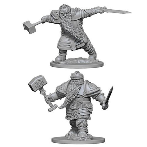 D&D Nolzur's Marvelous Unpainted Minis: Dwarf Male Fighter - WizKids/NECA