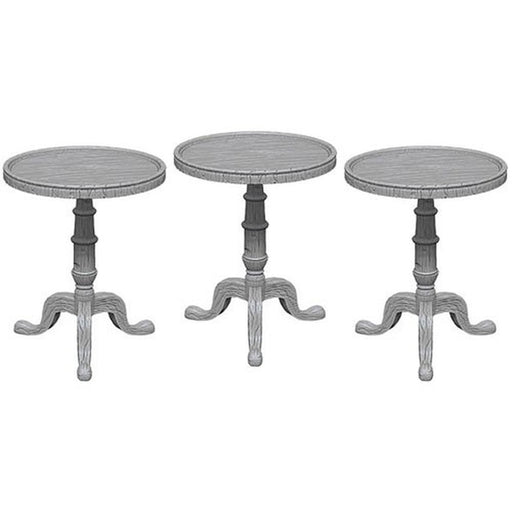 Deep Cuts Unpainted Miniatures: Small Round Tables - WizKids/NECA