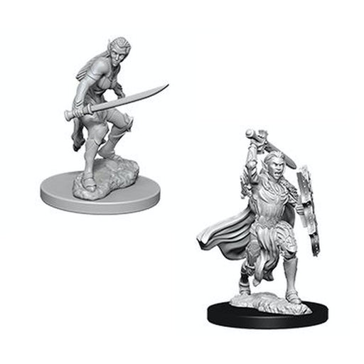 D&D Nolzur's Marvelous Unpainted Minis: Elf Female Fighter - WizKids/NECA