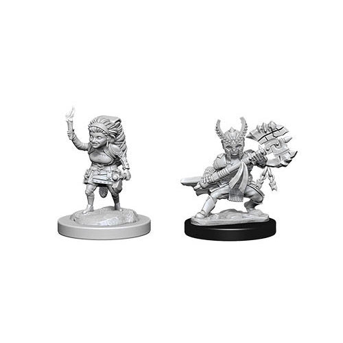 Halfling Female Fighter (2) - D&D Miniatures-RedQueen.mx