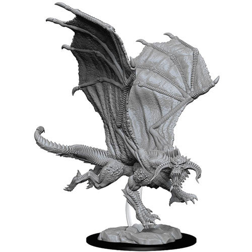 Young Black Dragon (1) - D&D Miniatures-RedQueen.mx