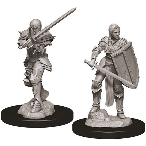 Human Female Fighter (2) - D&D Miniatures-RedQueen.mx
