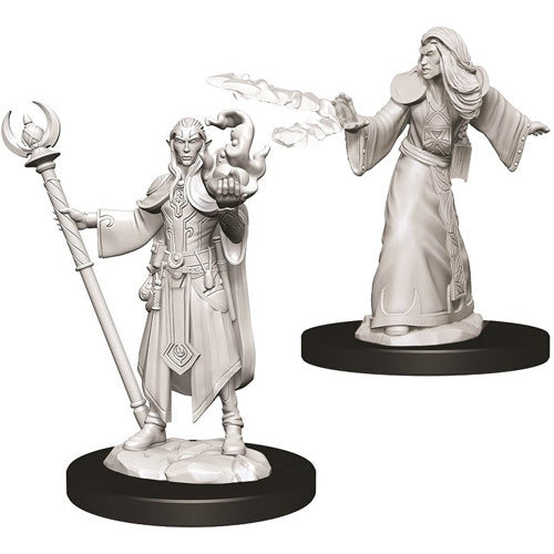 Elf Male Wizard (2) - D&D Miniatures-RedQueen.mx