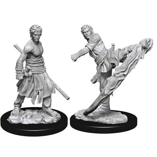 Half-Elf Male Monk (2) - D&D Miniatures-RedQueen.mx