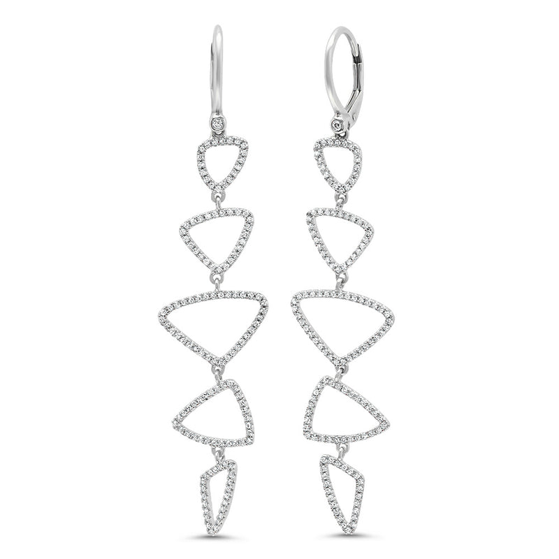 Diamond Angular Muli Drop Earring