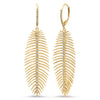 Diamond Feather Earring
