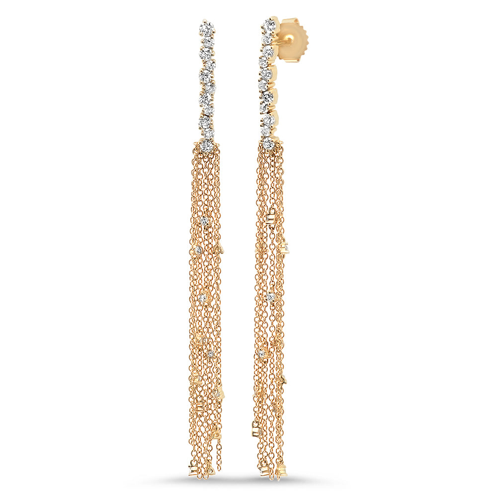 Diamond Strand Fringe Earring