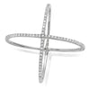 14k solid white gold x ring genuine diamonds