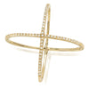 diamond criss cross ring 14k solid yellow gold