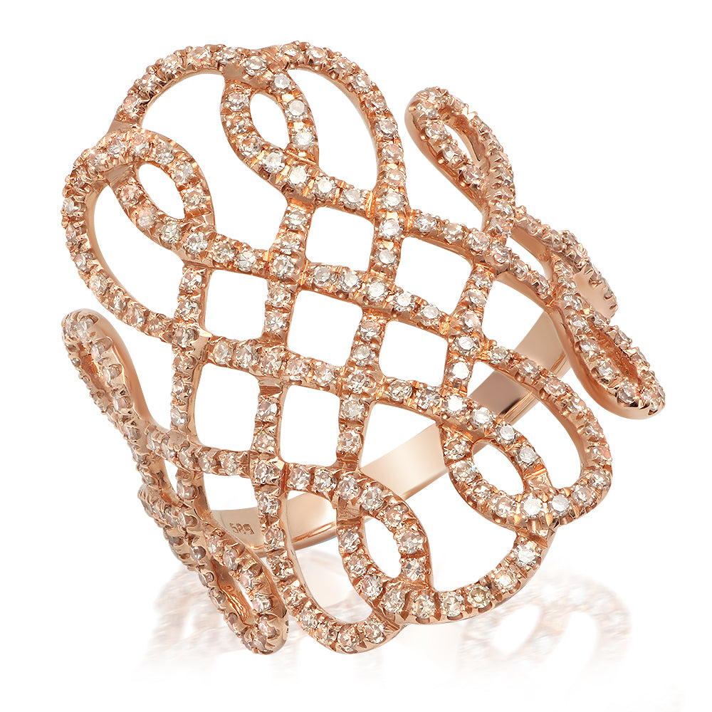Diamond Chained S Ring