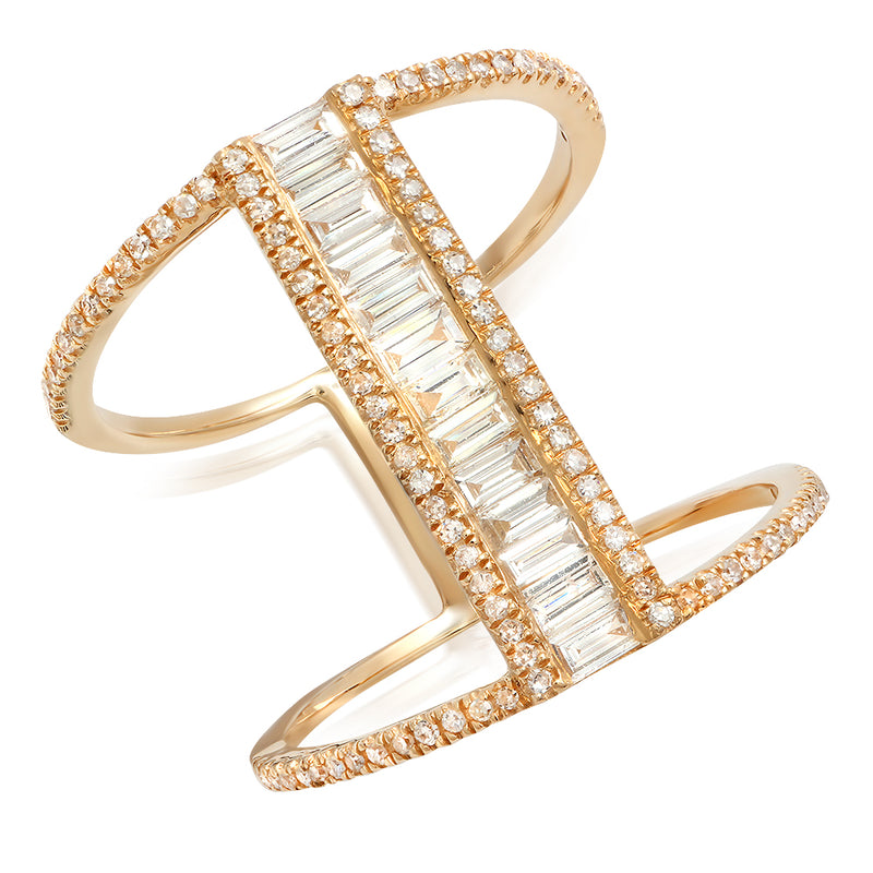 Diamond Baguette Egyptian Ring