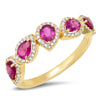 Diamond Sea Purple Sun Ring