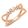 Open Square Chain Link Ring
