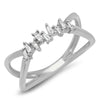 Double Band Baguette Row Ring