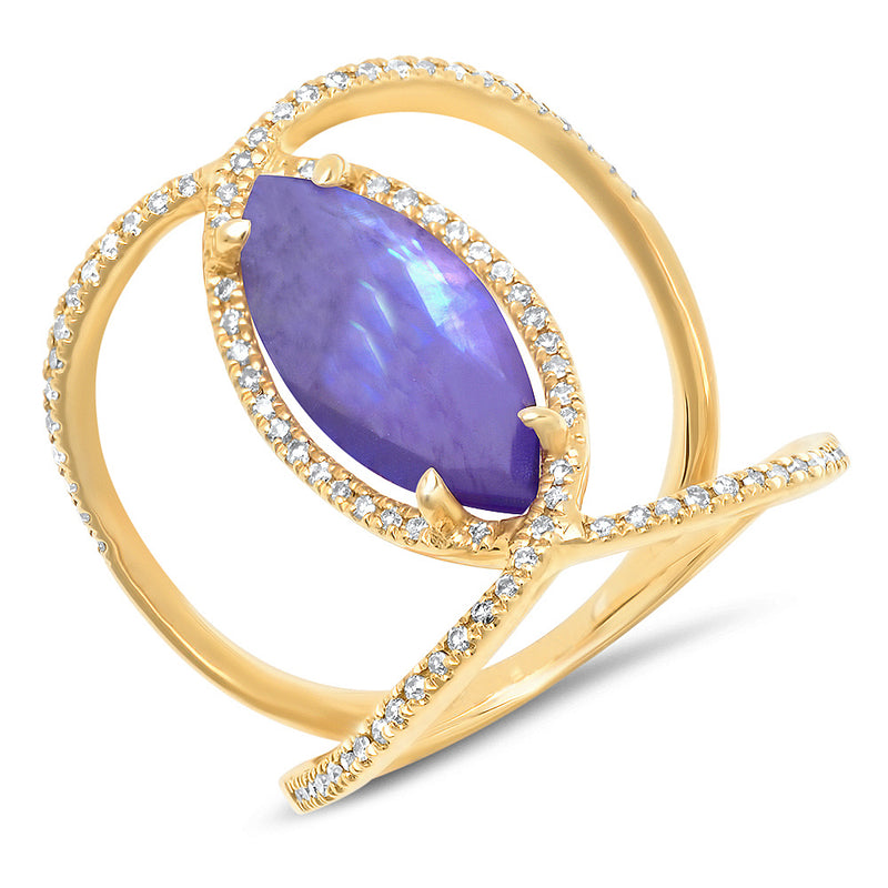 Diamond Shimmer Amethyst Infinity Ring