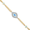 Single Diamond Evil Eye Bracelet