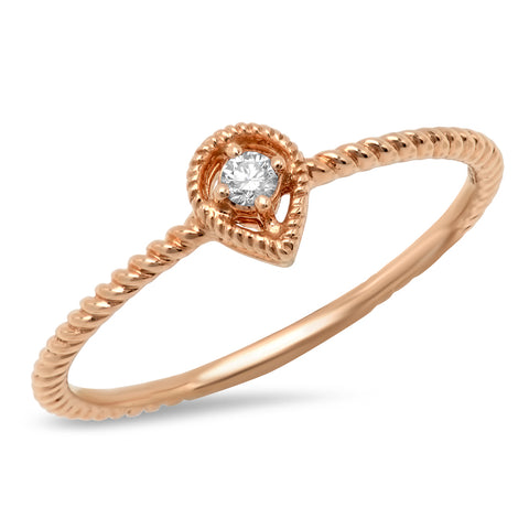 Diamond Baguette Irregular Band Ring