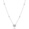 Diamond Halo Heart Necklace