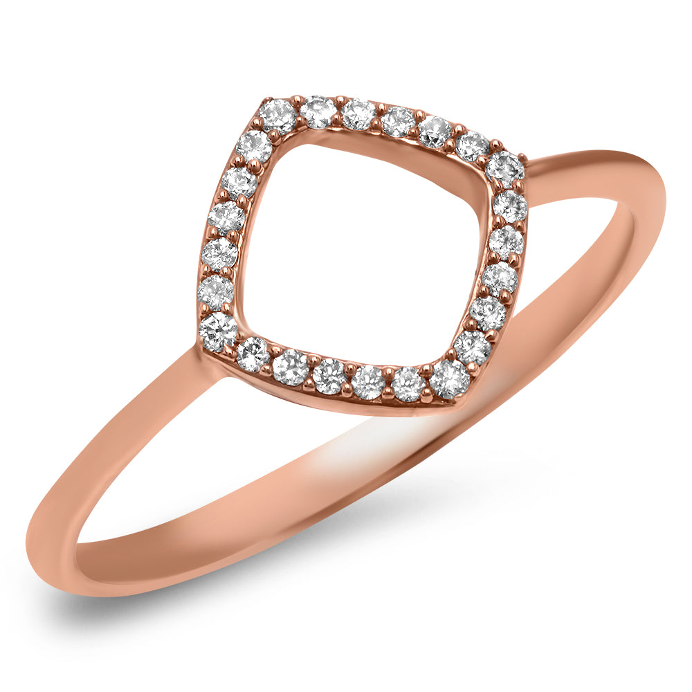 Diamond Square Open Ring