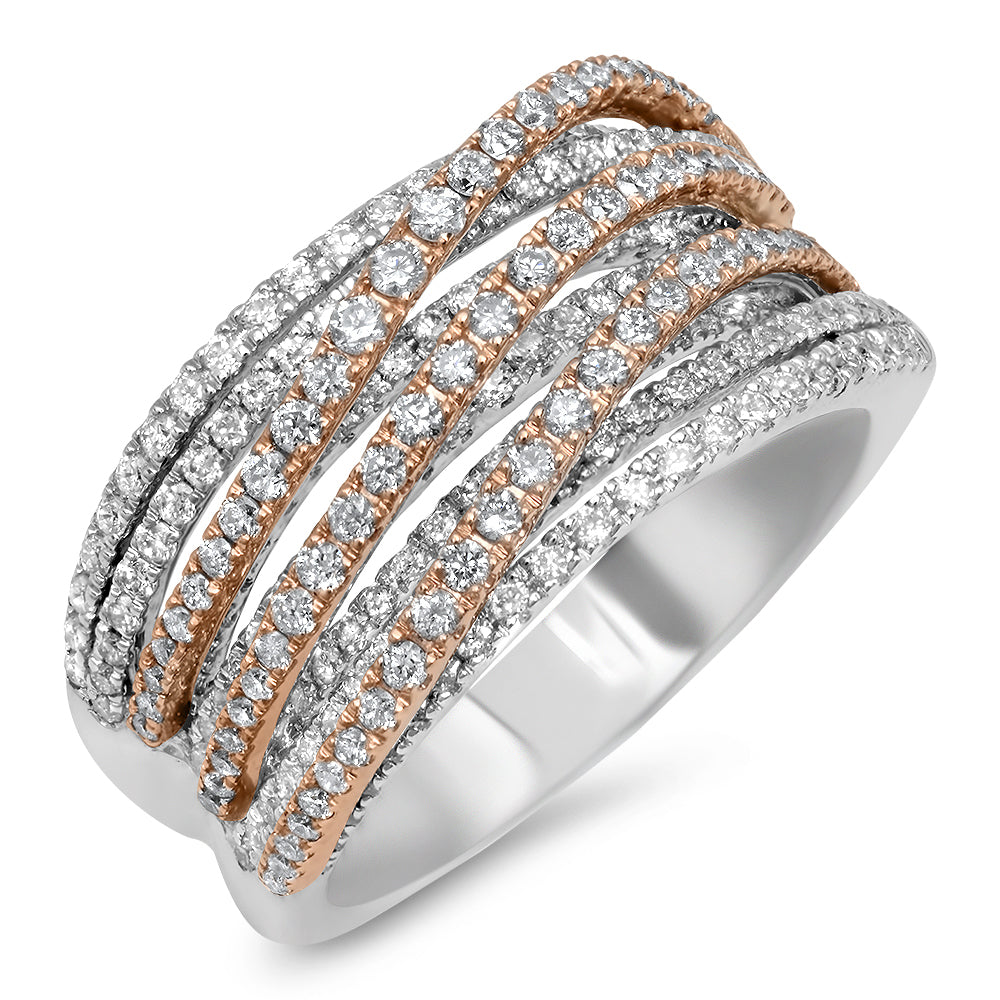Multi Band Two Tone River Ring
