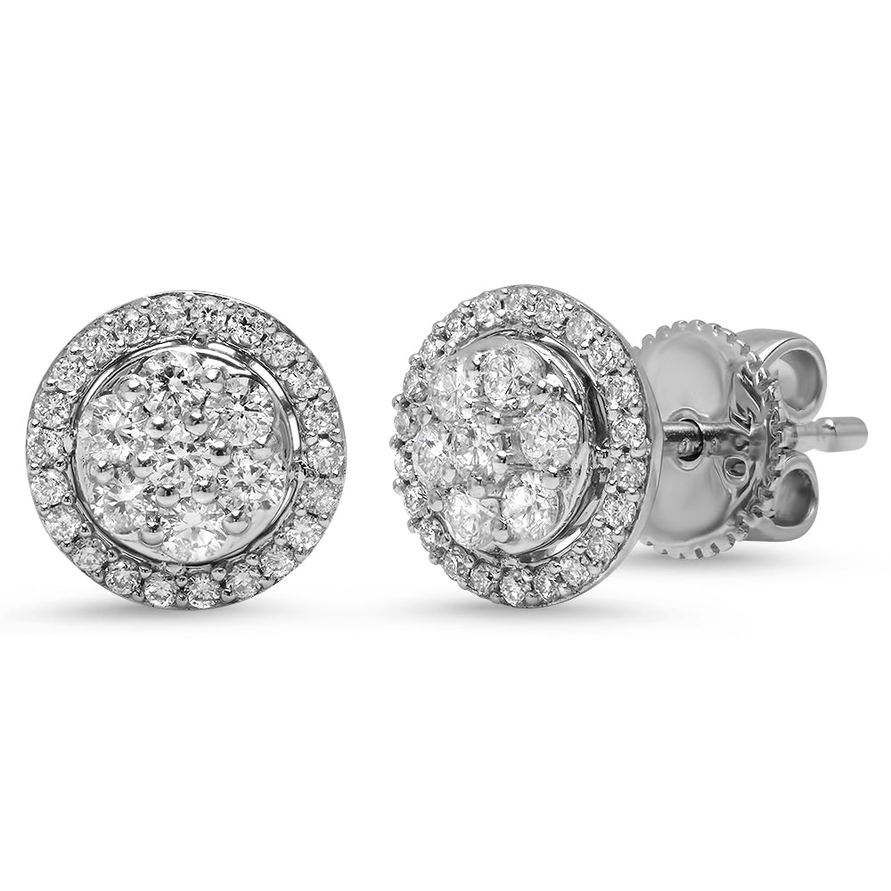 Diamond Halo Cluster Stud