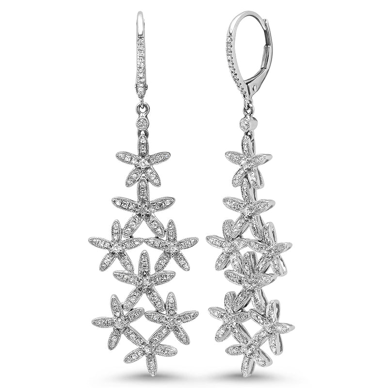 Diamond Floral Earring