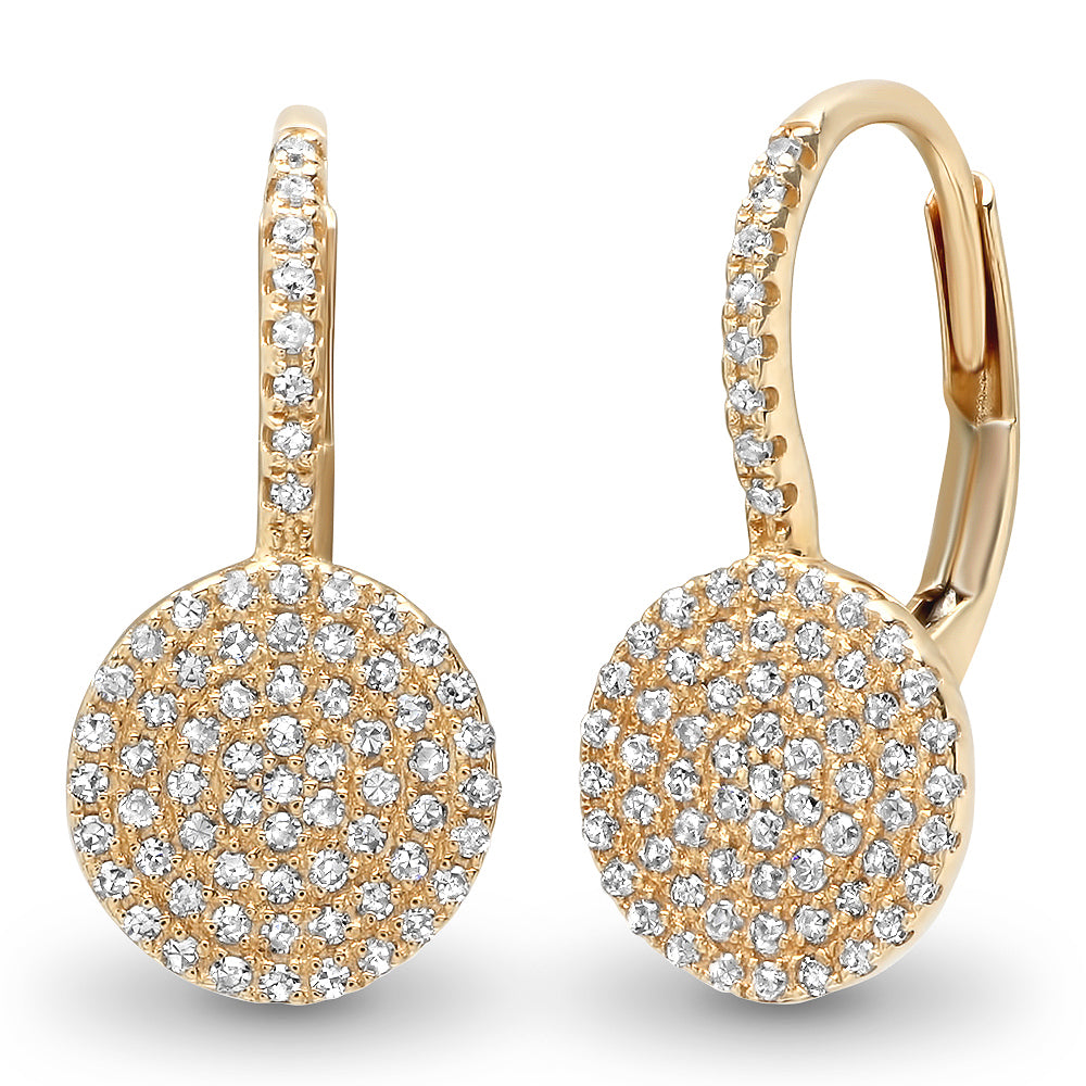 Diamond Disc Off Ear Earring
