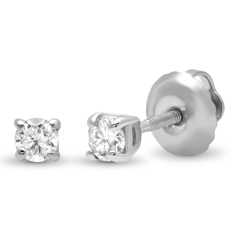 Solitaire Diamond Stud Earring