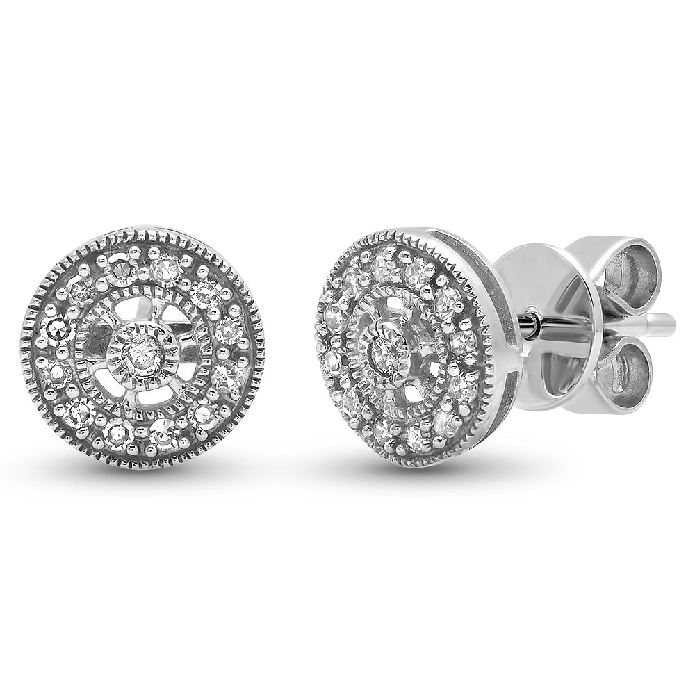 Diamond Halo Stud Earring