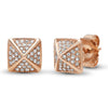Diamond 3 Spike Huggie Earring