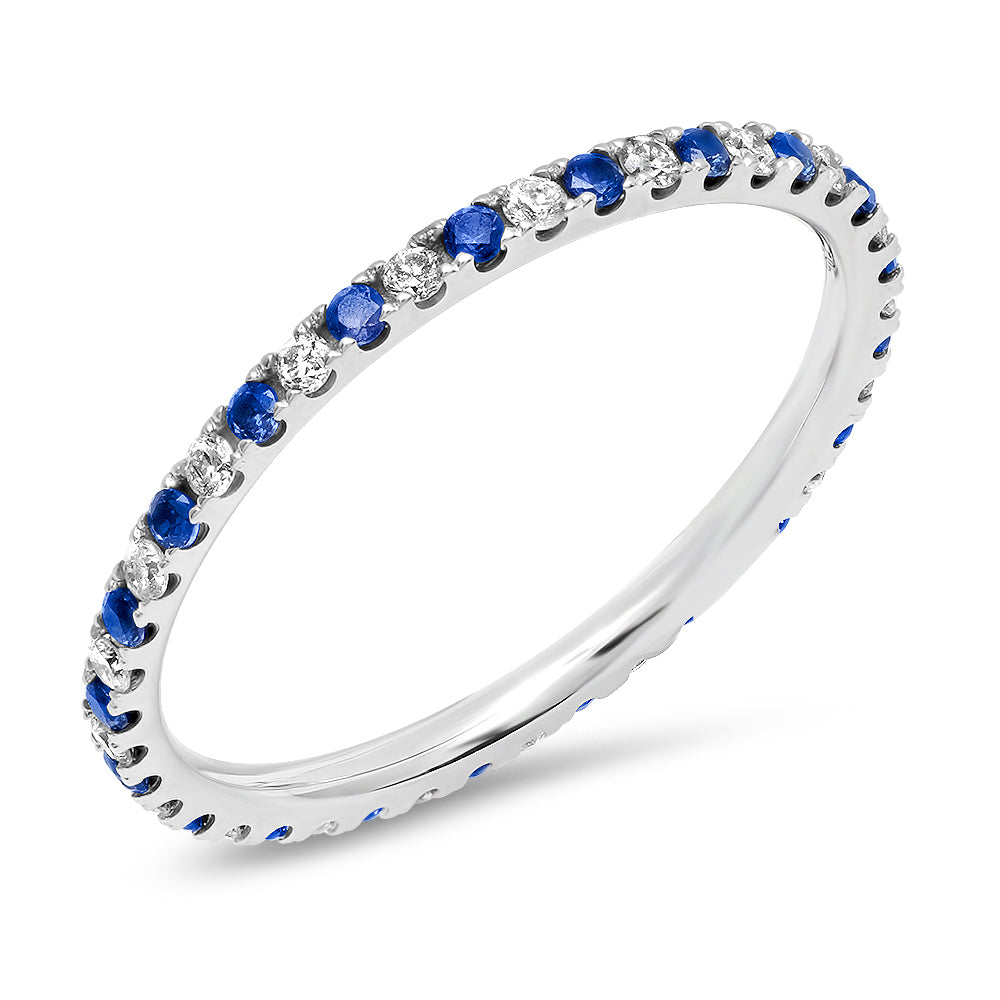 Something Blue Diamond and Sapphire Eternity Band