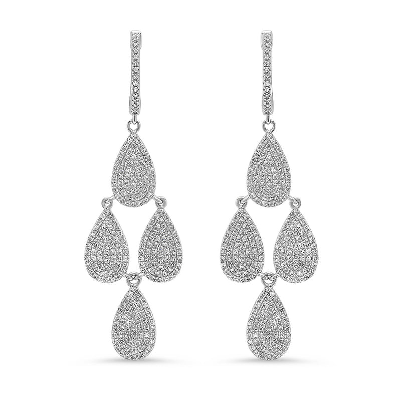 Diamond Teardrop Chandelier Earring