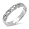 14k solid white  gold chain link dainty cuban band ring