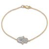 Double Disc Diamond Open Bangle