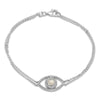 Double Layer Circle/Pear Halo Choker Necklace