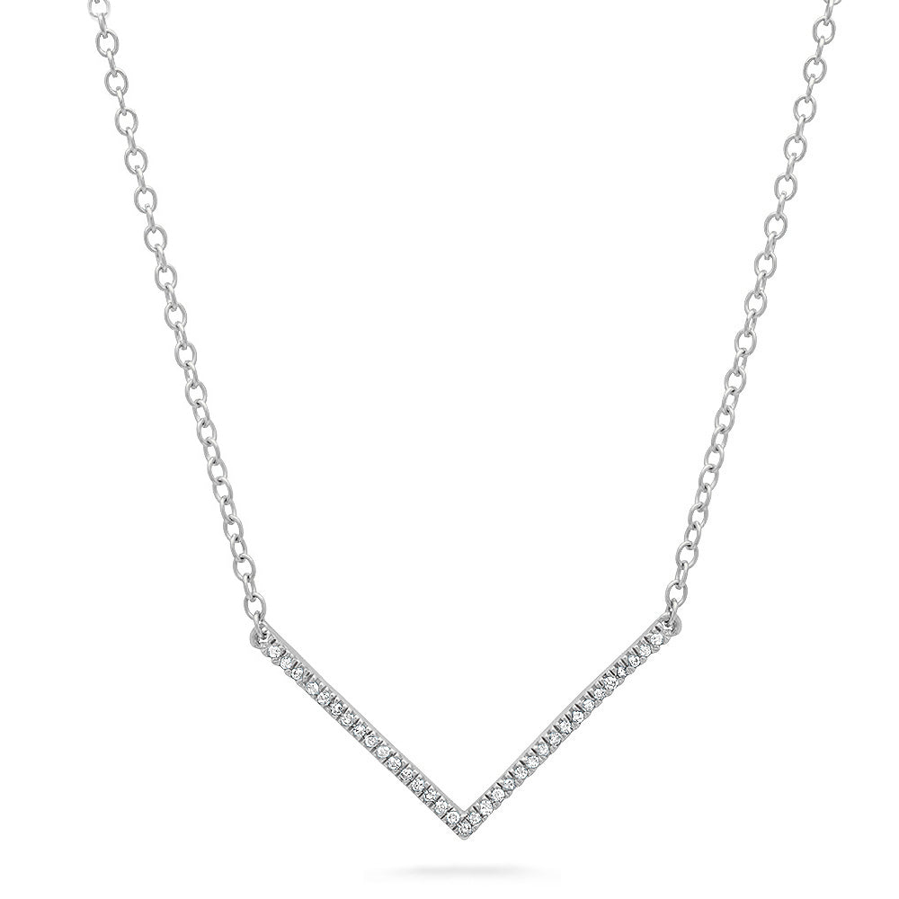 Mini V Diamond Necklace