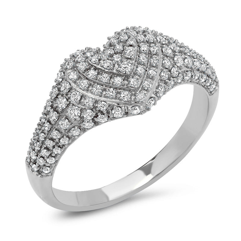 Diamond Signet Heart Ring